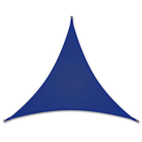 Vela de Sombra Solar, Paño de Sombrilla Triangle 3x3x3m, con Luces LED, Toldo de Vela de Jardín, Vela Parasol Transpirable Impermeable con Bloque UV,G