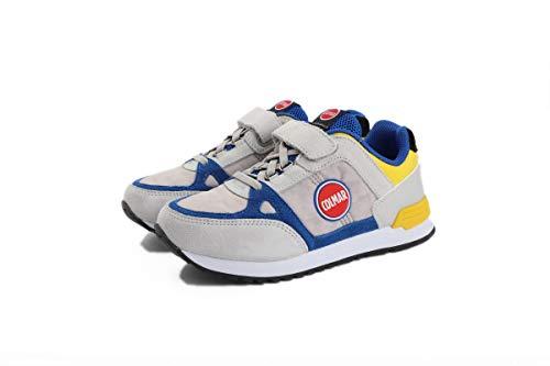 Colmar Sneaker in Tela con Velcro e Lacci Elastici Grigio, 28