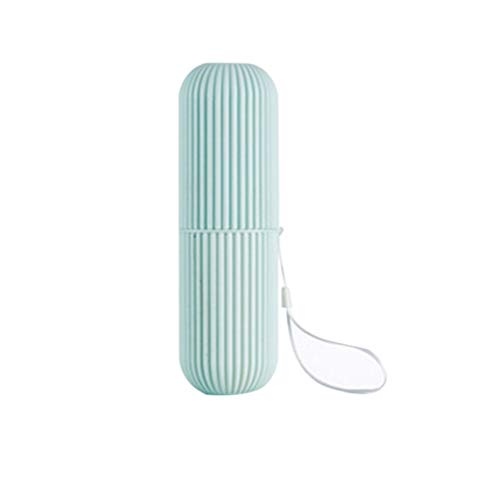 DANDANdianzi Zahnbürstenhalter Streifen Reise Zahnpasta-Aufbewahrungsbehälter aus Kunststoff Badezimmer Wasch Cup Reisen Outdoor Wandern Zahnbürste Fall