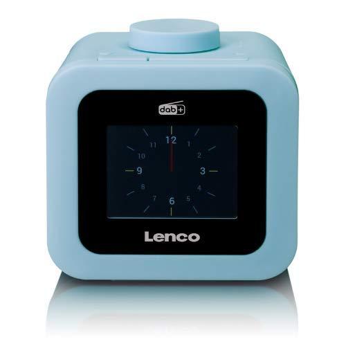 """Lenco CR-620 DAB+ Uhrenradio - Radiowecker mit 3"""" TFT Farbdisplay - PLL FM - 40 Senderspeicher für FM und DAB+ - Alarm u. Schlummerfunktion - 2 Watt RMS - 3,5mm - Blau"""
