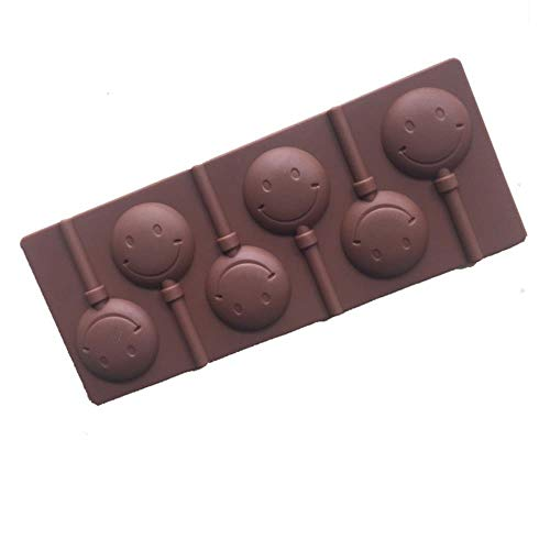 FTFSY Silicone Round Lollipop Candy Cake Baking molds Chocolate Cake Decorating Pastry Mould,Smile