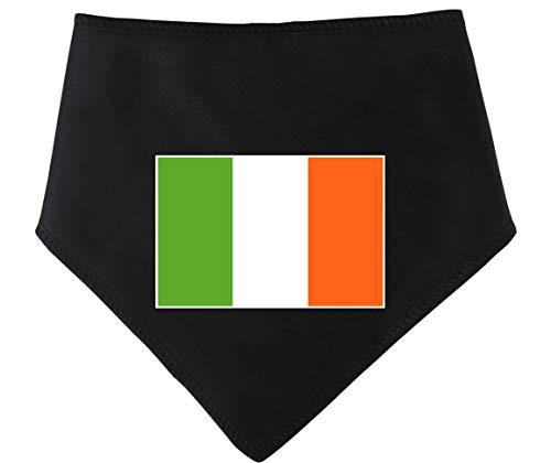 Spoilt Rotten Huisdieren S4 Ierland Vlag Groot, Zwarte Hond Bandana. Geschikt voor Husky, GSD, Newfies & Chow Chow Sized Dogs