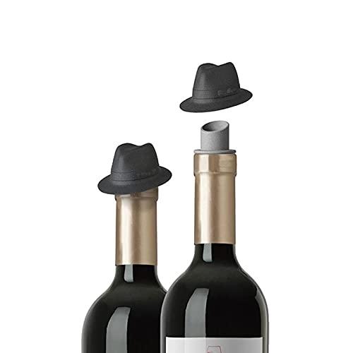 Tapón de botella de vino de 2 piezas, tapón de botella de vino tinto de silicona, tapón de botella de vino, tapón de botella de vino reutilizable, tapón de botella de vino