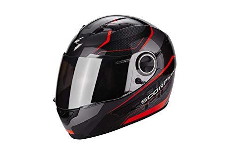 Scorpion Exo-490 Vision Casco moto, Nero / Rosso neon, S