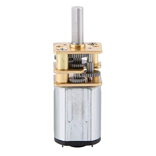 Motorreductor de Engranajes de Reducción de Velocidad de Alto par Motor Eléctrico con Escobillas de Metal N20 DC 6V Brush 50RPM con caja de Engranajes de Metal para Equipo Eléctrico de Ventilador
