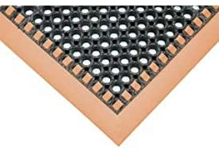 product image for Apache Mills Hi-Visibility Safety Drainage Matting w/Grit Top 3-Sided Orange Border, 38x52