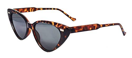 FIKO BUTTERFLY CATS - Gafas de sol Polarizadas Hombre y Mujer vintage Lentes de sol Marco UV400 (MARRONE MACULATO)