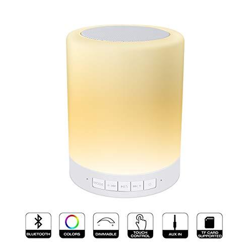 AFAITH Lampada da Comodino, LED Bluetooth Speaker,...