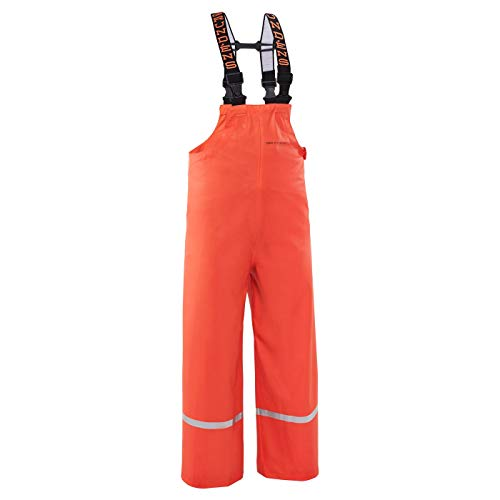 Grundéns Little Boys' Zenith 117 Fishing Bib Pants, Orange - 8 Year