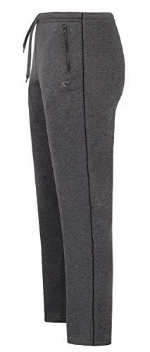 IMAKO® Pantaloni lunghi classici da uomo Derek I pantaloni da jogging con tasche I pantaloni da corsa da uomo con tasche laterali con chiusura lampo, taglia M - 4XL - Made in EU antracite. XXXL