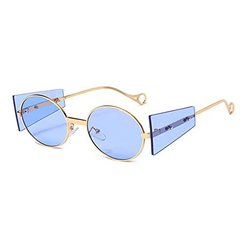 JWDS Gafas de Sol para Mujer Gafas De Sol Mujeres Hombres Punk Gafas De Sol Vintage Sombras Redondas Uv400 Gafas