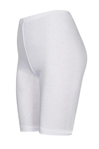DeDavide Shorts Cyclisme, Blanc, XL