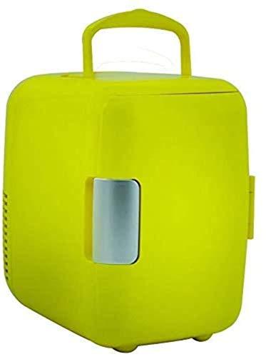 Mini nevera, Portátil 4L pequeño refrigerador del coche, regalo de doble uso Mini caja de calefacción y refrigeración, 220V / 12V, Compact/Quiet, Negro 1yess (Color : Green)