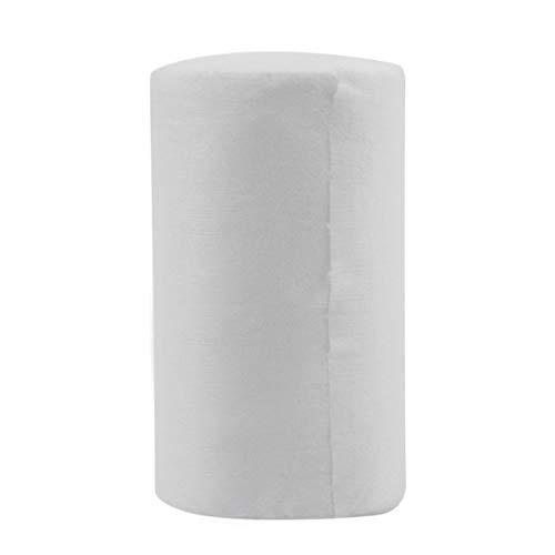 Greatangle Couches en Bambou jetables biodégradables jetables pour bébé 100 Feuilles pour 1 Rouleau 18cmx30cm Blanc