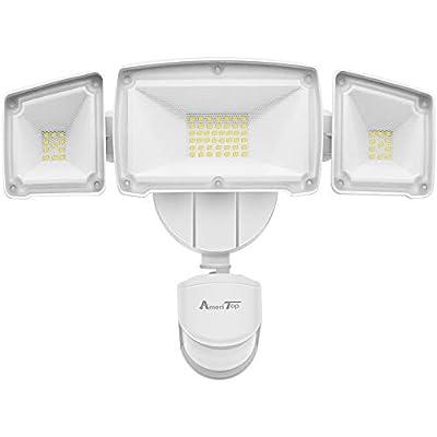 Motion Sensor Lights Outdoor, AmeriTop 39W Ultra Bright 3500LM LED Security Flood Lights; High Sensitivity/ Wide Angle Illumination/ 2 Control Dials Mode/ETL Certified IP65 Waterproof Outdoor Light