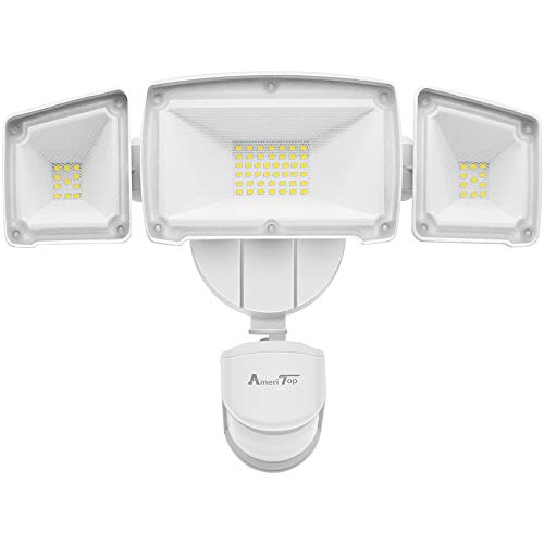 Motion Sensor Lights Outdoor, AmeriTop 2-in-1 Ultra Bright 3500LM 35W LED Security Flood Lights with Motion Sensor Mode & Dusk to Dawn Sensor Mode/ETL Certified, IP65 Waterproof