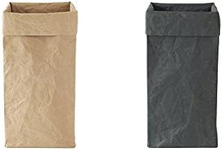 大直「SIWA・紙和」和紙のボックス・ゴミ箱 M ブラック