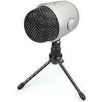 Amazonbasics Desktop Mini Condenser Mic Microphone (Silver)