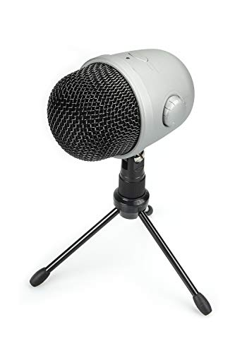 Amazon Basics Desktop Mini Condenser Mic Microphone - Silver