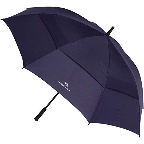 Procella Golf Umbrella Windproof Waterproof - 62 Inch Large Automatic Open Rain & Wind Resistant Vented Double Canopy - Best Golf-Sized Stick Umbrellas for Men and Women (Navy Blue)