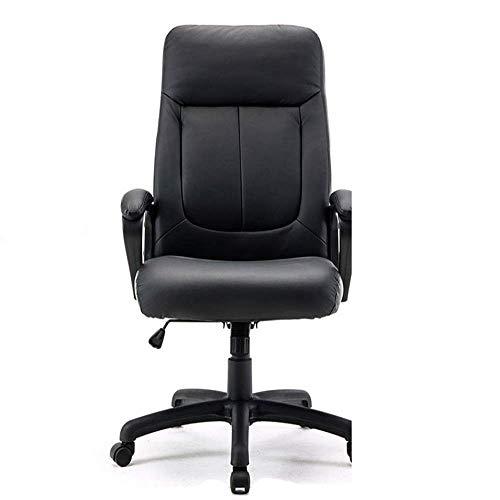 Busirsiz Giratorias de oficina silla con apoyabrazos acolchados confortable silla ergonómica de cuero de imitación de escritorio Silla de oficina Ejecutivo Silla giratoria silla de la computadora Sill