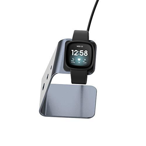 Bemodst Base de carga compatible con Fitbit Versa 3/Fitbit Sense Charger, soporte...