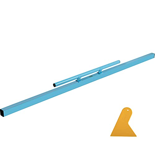 VEVOR Combo Concrete Screed, 72' Aluminum Screed Board, Concrete Screed Tool with Built-in Leveling Vial, Lightweight Concrete Screed Board with Comfortable Handle and Plastic Shovel for Construction