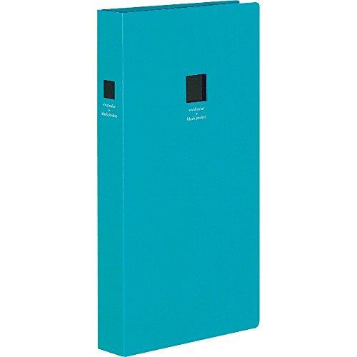 コクヨ ポシェットアルバム黒台紙 3段厚型青色