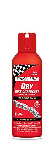 Finish Line Dry Lubrificante per Biciclette, Rosso, 244 ml