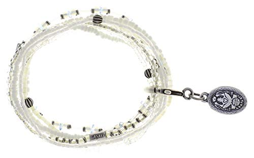 Konplott Armband Elastic Petit Glamour d´Afrique White antik Silber