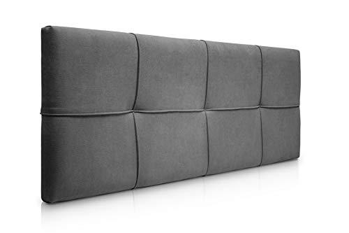 SUENOSZZZ-ESPECIALISTAS DEL DESCANSO Cabecero de Cama tapizado, Modelo Square para Camas de 150 (160 x 57 cm) Tela Gris