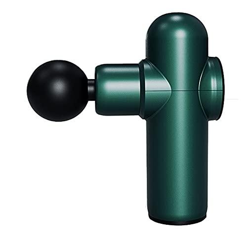 Dispositivo de Impacto de Masajeador Corporal Pistola de Masaje Muscular de Percusión de Tejido Profundo Masajeador de Espalda Eléctrico Portátil 5 Velocidades Ajustables 4 Cabezas por Gi(Color:verde)