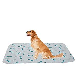 Geyecete Waterproof Pad and Bed Mat for Dogs, Washable, Reusable Pee Pads for Dog Crates, Puppy Training, Many Sizes(Fits 24 30 36 42 48 inches Wire Crate)