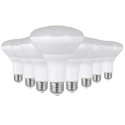 """Feit Electric BR30DM850/10KLED/2/4 65W Equivalent Full Range Dimmable, Indoor Flood Recessed Cans, UL Listed LED BR30 Reflector Light Bulb 8-Pack, 5""""H x 3.75""""D, 5000K Daylight, 8 Piece"""