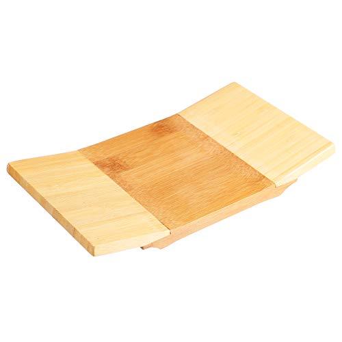 PIXNOR para Servir Sushi de Bambú para Servir Geta Vajilla de Estilo Japonés Bandeja de Corte para Tablero de Sushi de Bambú para Cocina Y Hogar