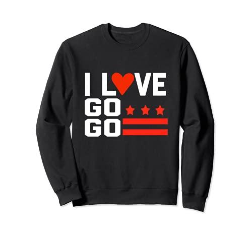 Washington D.C, I Love Go-Go Music Cadeau pour enfants et adultes Sweatshirt