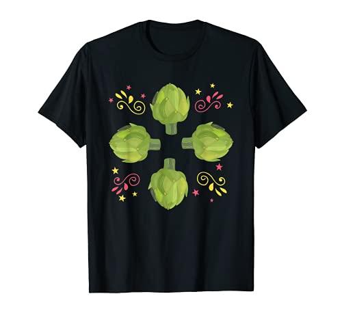 Gran Alcachofa Retro Ropa Vegetariana Disfraz Camiseta