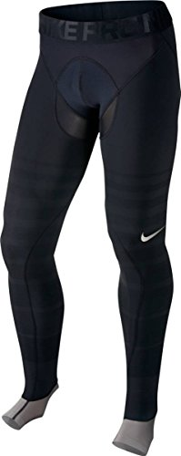 Nike Pro Hyperrecovery Mens Training Tights (S, Black/Black/Metallic Pewter)
