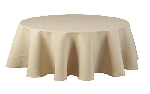 Maltex24 textiel tafelkleed - linnen look - waterafstotend ovaal - kleur maat naar keuze
