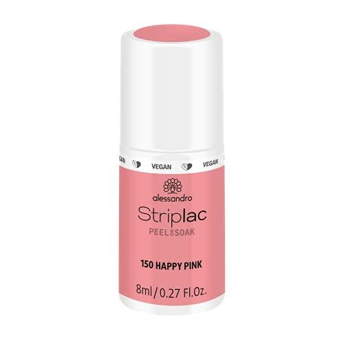 alessandro Striplac Peel or Soak Happy Pink - LED-Nagellack in kräftigendem Rosa- Für perfekte Nägel in 15 Minuten, 8 ml