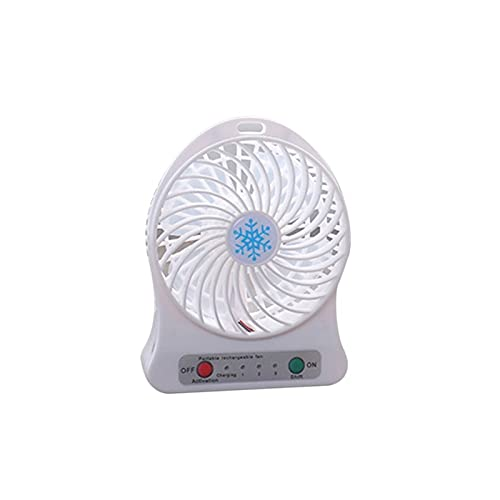 LXF JIAJU Portátil Mini Ventilador Recargable Refrigerador Refrigerador Refrigerador De Aire Refrigerador De Aire Mini Operado Escritorio Ventilador USB para PC Ordenador Portátil (Color : White)