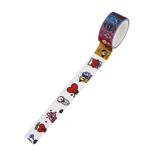 Kroy Pecoed Kpop Bts Band, Bts Twice Wollen een exo zwart-roze zeeftien lieve washi tape DIY afplakband decoratief afdekband voor Bts dagboek en geschenkverpakking Stil 36
