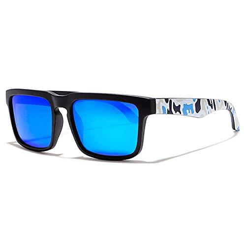NBJSL Gafas de sol cuadradas polarizadas Hombres y mujeres Deportes Gafas de sol protectoras UV Exquisito embalaje de regalo