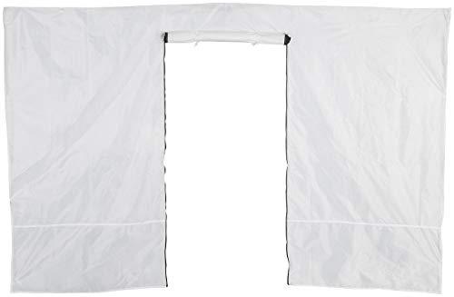 Royal Gardineer Zubehör zu Festival-Zelt-Pavillon: Wandseitenteil für Faltpavillon, Reißverschluss-Tür, 3 x 1,9 m, weiß (Klapp-Falt-Pavillon)