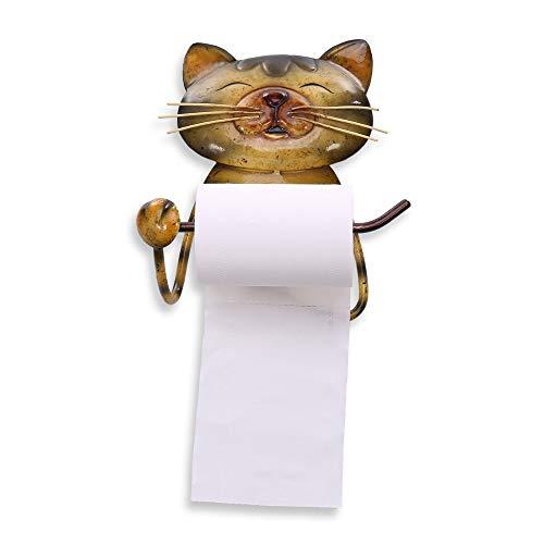 AISHIPING Papieren handdoekhouder voor katten handdoekhouder handdoekhouder met voeten voor de badkamer