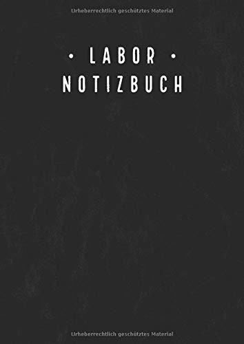 Labor Notizbuch: Laborjournal mit inhaltsverzeichnis | Laborbuch a4 Kariert 5x5mm | 100 Nummerierte Seiten | Laborant Biologen Physiker Chemiker Notizbuch | Schwarz