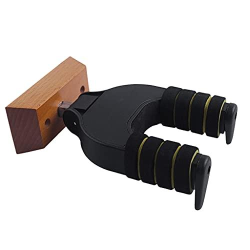 Hellery Soporte de gancho para suspensión de guitarra Soporte de montaje en pared Soporte de rack Pantalla Accesorios de tornillos de bajo de guitarra