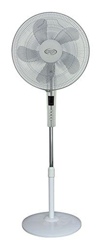ARGO Standy White, Ventilatore a Piantana con Telecomando, 5 Pale, Display LED, 3 Velocità Ventilazione, Altezza 155 cm