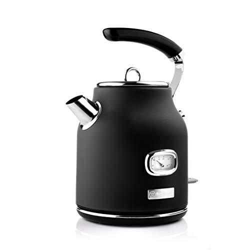 Westinghouse Retro Wasserkocher (1,7 Liter) - Kocher für Wasser mit Temperaturanzeige & Wasserstandsanzeige, mit...