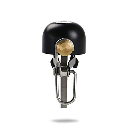 Deruxan Fahrradglocke Fahrradklingel Laut,Klein, Retro Handlingel aus Kupfer+ Rostfreier Stahl Material, Bicycle Bell Riding Bell für Mountainbik,Straßenfahrräder und BMX Laufräder (Schwarz)